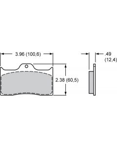 Bromsbelägg Wilwood Dynalite 4-kolv