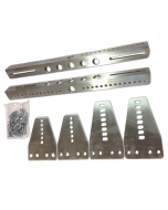 Stolsfäste 3-delat Aluminium Silver